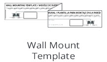VIZIO SB3821-C6 38 wall template